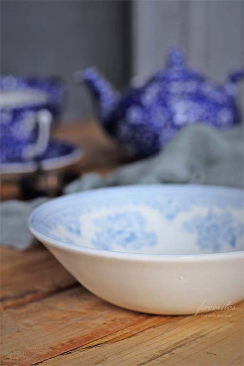 burleigh(バーレイ) |ブルー アジアティック フェザンツ シリアル ボウル