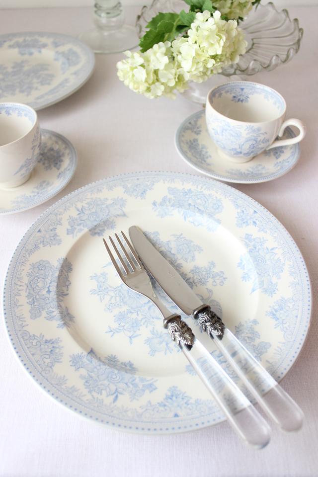 burleigh(バーレイ) |ブルー アジアティック フェザンツ プレート Lサイズ