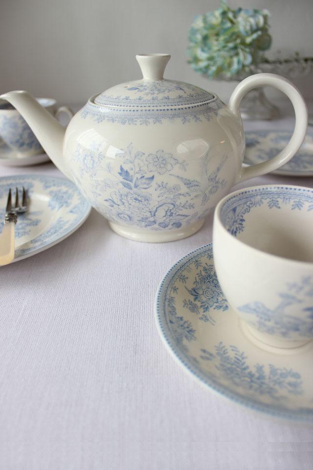 burleigh(バーレイ) |ブルー アジアティック フェザンツ ティーポットLサイズ
