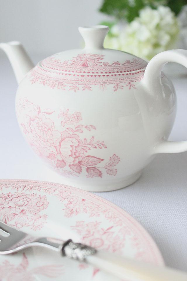 Burleigh(バーレイ) |ピンク アジアティック フェザンツ ティーポット Sサイズ