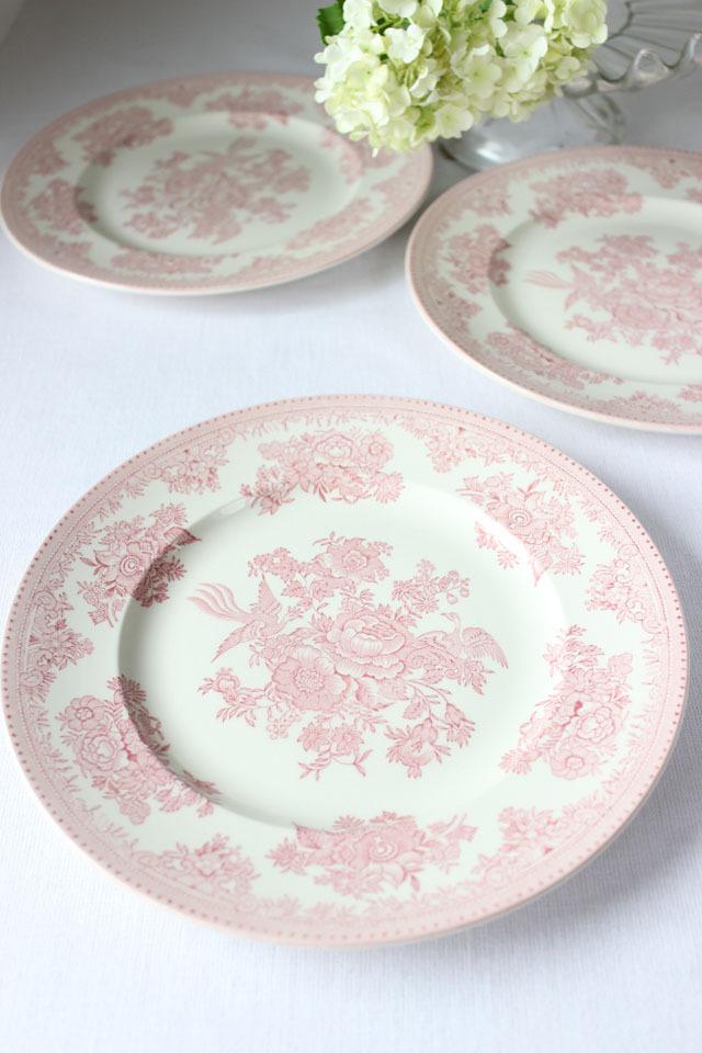 burleigh(バーレイ) |ピンク アジアティック フェザンツ プレート Mサイズ