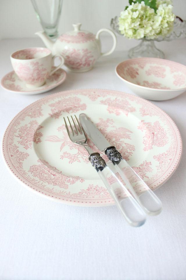 burleigh(バーレイ) |ピンク アジアティック フェザンツ プレート Lサイズ