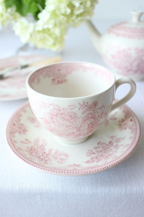Burleigh(バーレイ) |ピンク アジアティック フェザンツ カップ&ソーサー