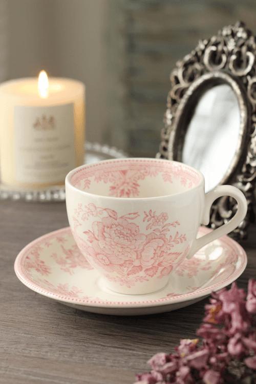 3月初旬再入荷予定~Burleigh(バーレイ) |ピンク アジアティック フェザンツ カップ&ソーサー