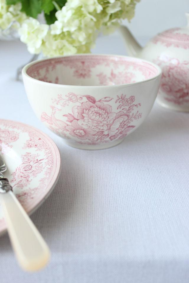 Burleigh(バーレイ) | ピンク アジアティック フェザンツ シュガーボウル Lサイズ