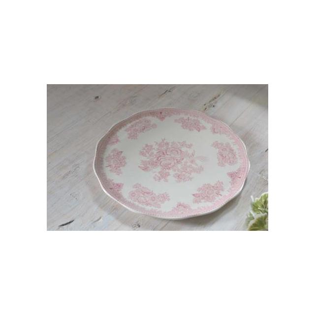 burleigh(バーレイ) |アジアティック フェザンツ ケーキプレート(ブルー/ピンク)