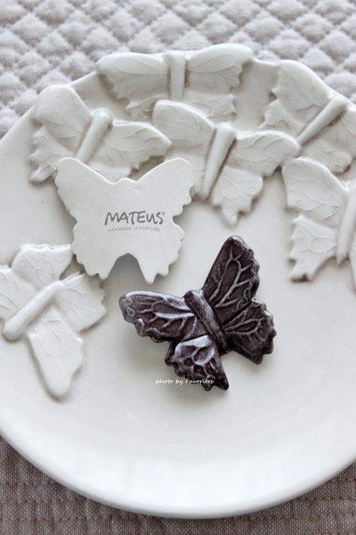 MATEUS(マテュース) |箸置き バタフライ S プラム