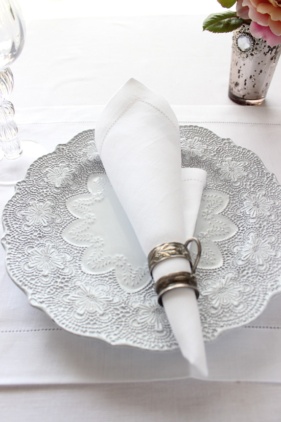 アレクサンドル チュルポー ナプキン 'Florence' ホワイト