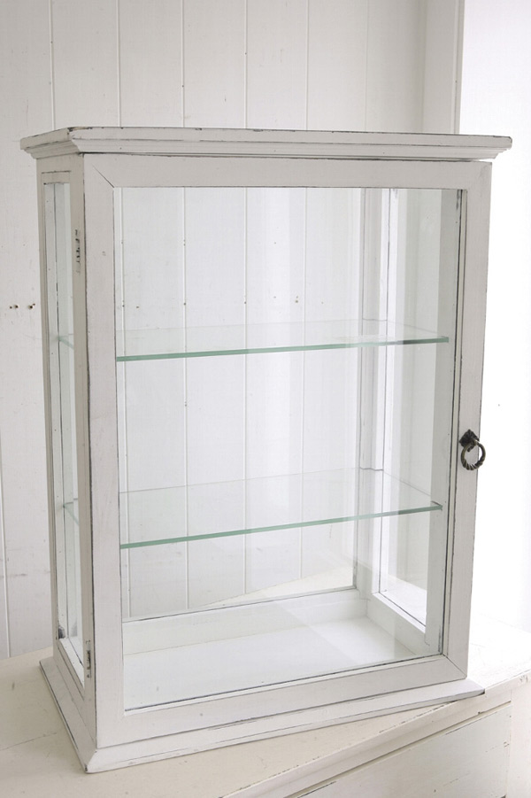 ウッド&ガラス・コレクションシェルフ