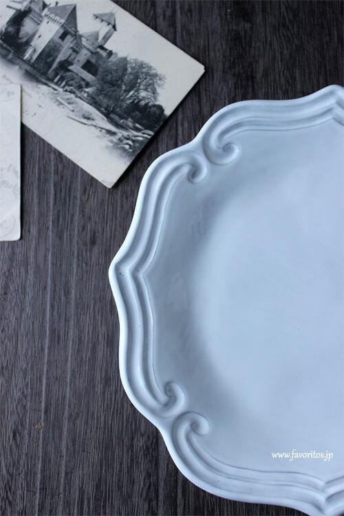 La Ceramica(ラ・セラミカ)|ホワイト ストライプ プレート(16cm/23cm)