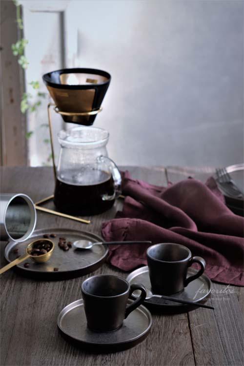 COSTA  NOVA(コスタノバ) | LAGOA(ラゴア) コーヒーカップ&ソーサー(メタル)