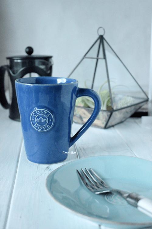 人気!ギフトにもお勧め!~COSTA  NOVA(コスタノバ) |NOVA(ノバ) マグカップ 0.3L(ホワイト/ターコイズ/デニム)