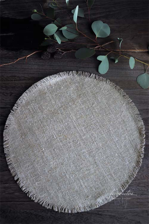 fiorira un giardino(フィオリラ ウン ジアルディーノ)|リネン100% ラウンドアンダープレート(プレイスマット)34cm