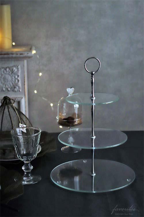 fiorira un giardino(フィオリラ ウン ジアルディーノ) |ガラス 3段ケーキスタンド