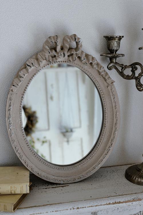 メーカー廃盤のため販売終了~ Mathilde M.(マチルドエム)| リボンミラー Oval Louis XVI(縦型)