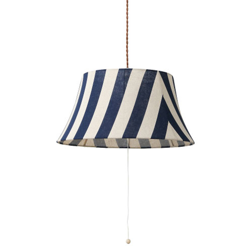 メルクロス PARTY-FABRIC-LAMP-3BULB-STRIPE BL M01