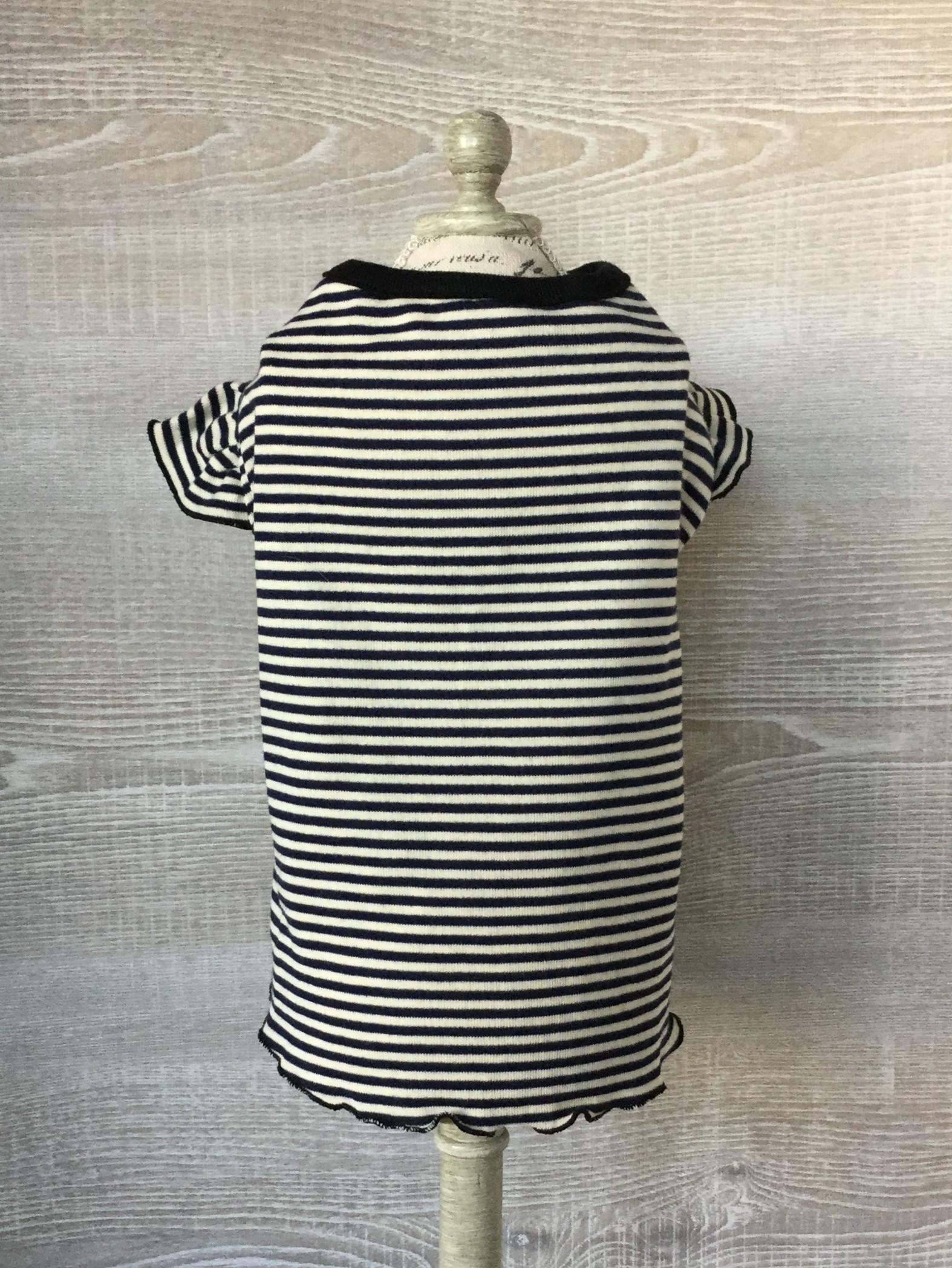 フリル袖Tシャツ ボーダー