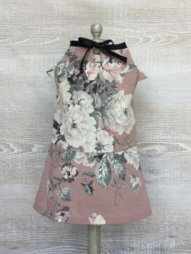 キャップ袖ワンピース花柄