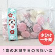 一升餅 小分け 1歳誕生日 プレゼント ギフト 選び取りカード 一升餅小分け お祝 日本製・国産 ネコポス不可 男の子 女の子 ryi