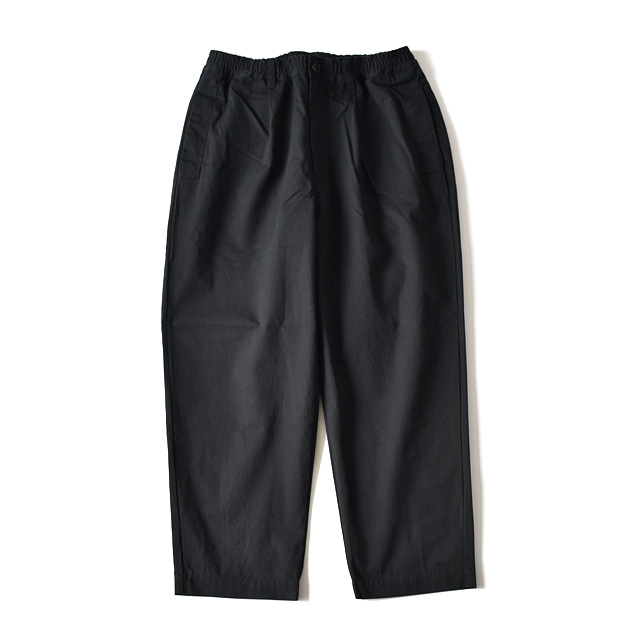 STILL BY HAND - Cotton Silk Wide Tapered Pants - Black