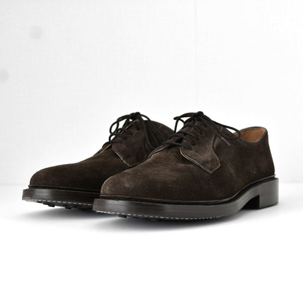 WALLSALL - Plain Toe Derby Shoes  - Suede Brown