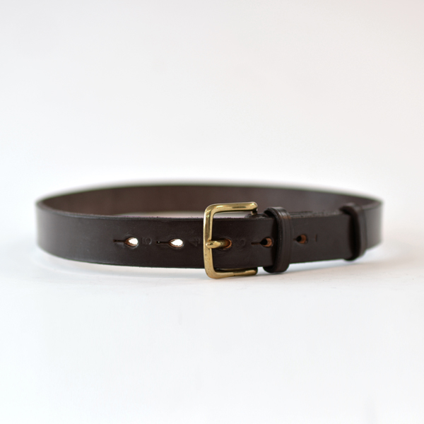 REAL HARNESS - 28mm Stirrup Saddle Leather Belt - Dk. Brown