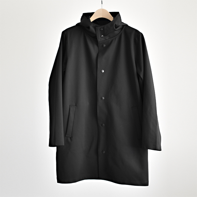 Jackman - High-Density Jersey Coat - Black