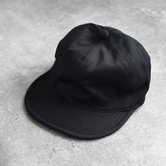 efni - 6 Panel Cap / Cotton Twill - Black