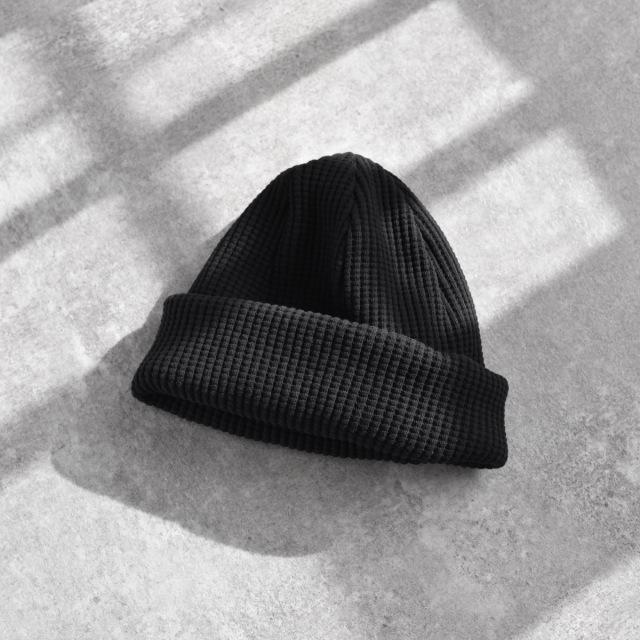 Jackman - Waffle Cotton Knit Cap - Black