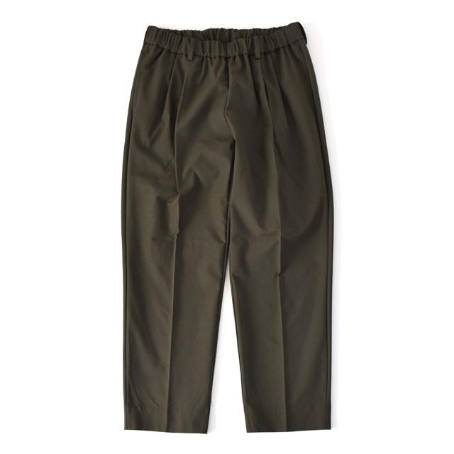 FLISTFIA -  Wide Tuck Trousers - Smoke Olive