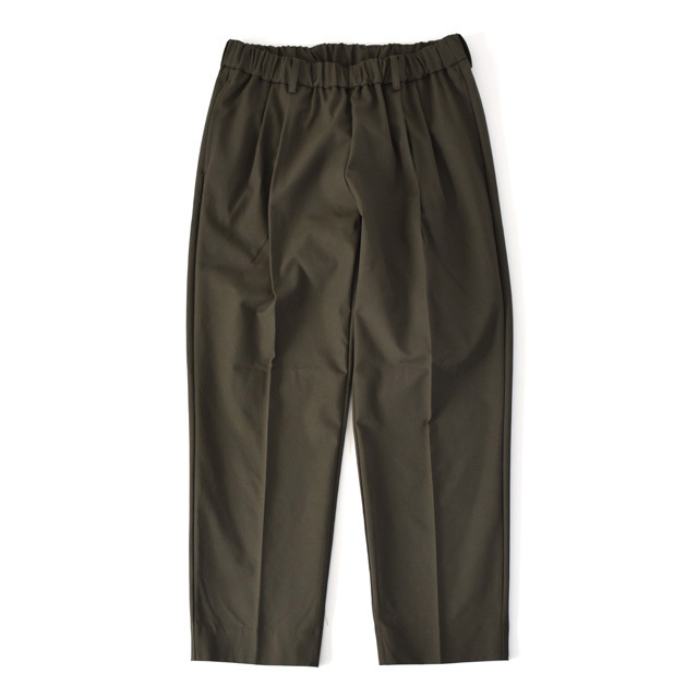 FLISTFIA -  Wide Tuck Trousers - Smoke Olive