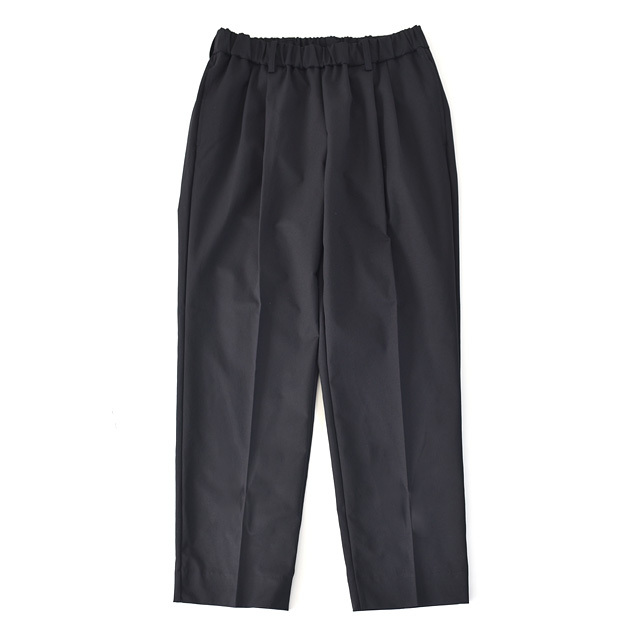 FLISTFIA -  Wide Tuck Trousers - Mid Navy