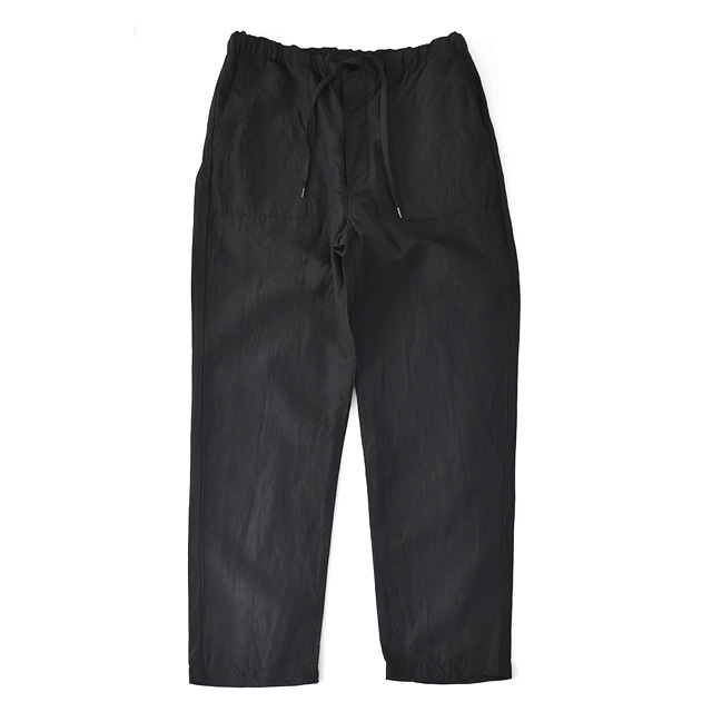 STILL BY HAND - Cupro Linen Easy Pants - Black
