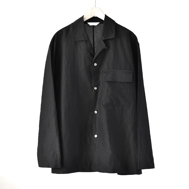 STILL BY HAND - Cupra Linen Shirts Jacket - Black