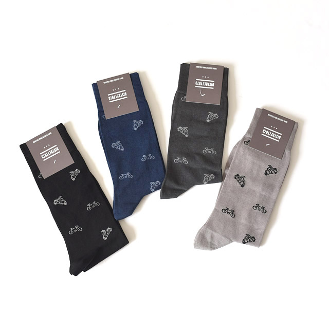 DISTRETTO073 - Cotton Nylon Socks - Bicicletta