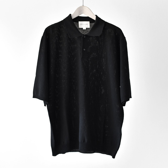 STILL BY HAND - Knit Polo - Black