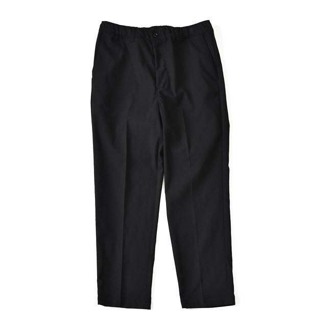 STILL BY HAND - Wool/Nylon Tapered Pants - Ink Black