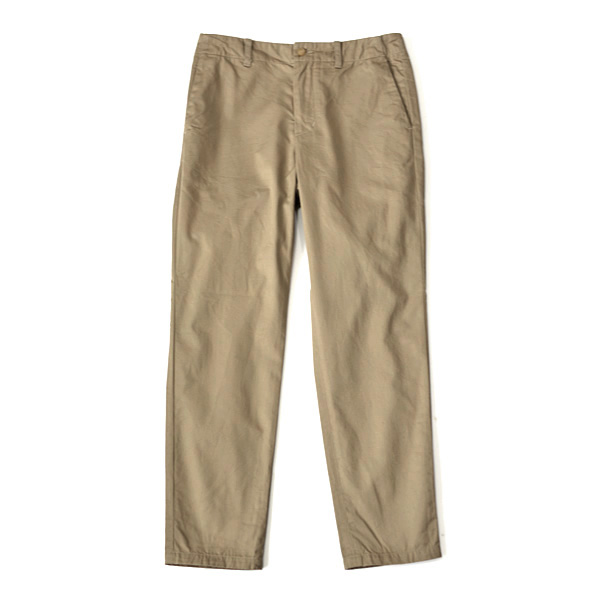 STILL BY HAND - Tapered Chino Trousers - Beige