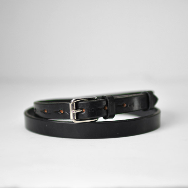 REAL HARNESS - 18mm Stirrup Saddle Leather Belt - Black