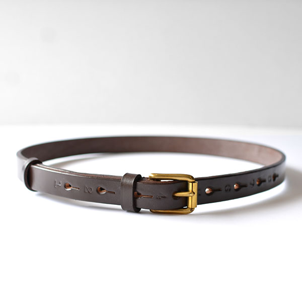REAL HARNESS - 18mm Stirrup Saddle Leather Belt - Dk. Brown