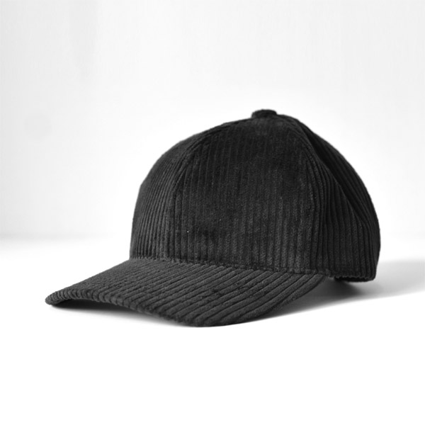 WINNERS CAP - Corduroy 6panel Cap - Black