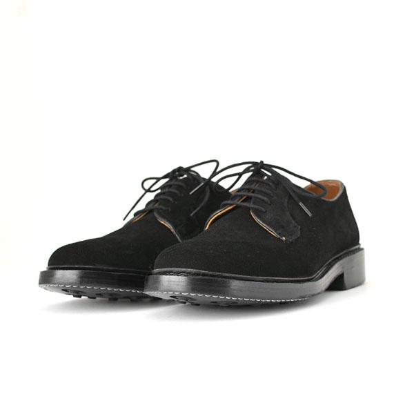 WALLSALL - Plain Toe Derby Shoes  - Suede Black