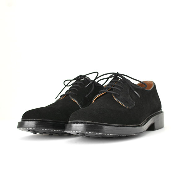 WALLSALL - Plain Toe Derby Shoes  - Suede Black