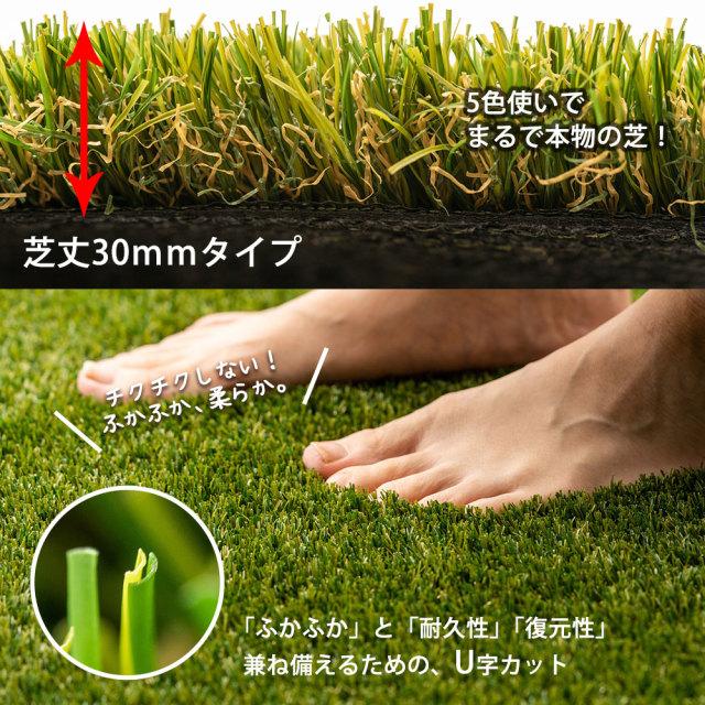 リアル人工芝 芝丈 30mm