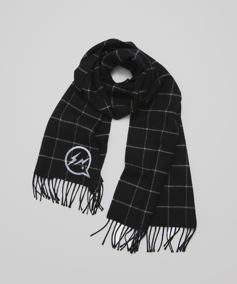 DENIM BY VANQUISH & FRAGMENT Icon Pattern Knitted Scarf[VFA097]