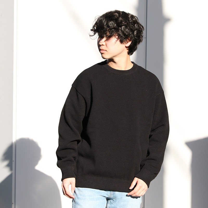 crepuscule クレプスキュール moss stitch L/S sweat