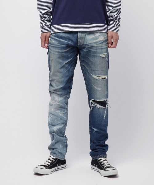 [DENIM BY VANQUISH&FRAGMENT] デニムバイヴァンキッシュフラグメント Patchwork tapered denim pants[VFP4032]