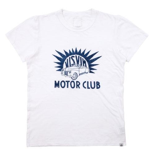 visvim ビズビム 2017SS DRY VNTG CREW S/S (MOTOR CLUB)