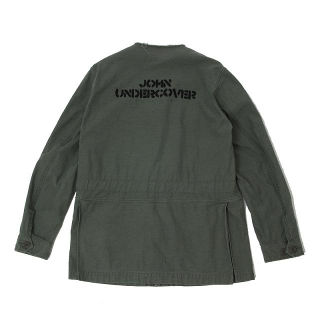 【JOHN UNDERCOVER】 ジョンアンダーカバー 2017SS バックサテンアーミーブルゾン JUS4204