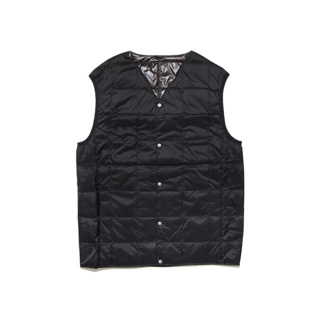 TAION タイオン V NECK BUTTON DOWN VEST TAION-001